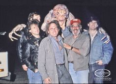 Team PUMPKINHEAD: Richard Landon, John Rosengrant, Richard Weinman, Tom Woodruff, Jr. (in suit), Stan Winston, and Alec Gillis