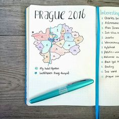 A little travel map for my Prague citytrip next week! ☀️