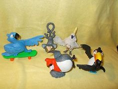 Rio Movie McDonald's Happy Meal Toys 2011 6 Pc Lot Bird Figures Cake Toppers - http://hobbies-toys.goshoppins.com/fast-food-cereal-premium-toys/rio-movie-mcdonalds-happy-meal-toys-2011-6-pc-lot-bird-figures-cake-toppers/