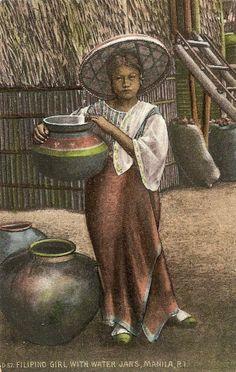 Filipina with Water Jag. Philippines Culture, Manila Philippines, Philippine Art, Social Realism, Filipino Culture, Filipina Beauty, Mindanao, Women In History, Pinoy