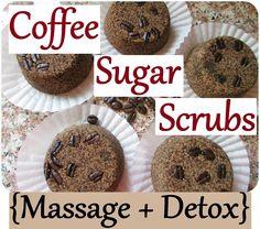 DIY Sugar Coffee Scrub Bars - Detox, Massage and Anti-Cellulite. Great as a Gift!
