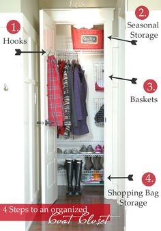 Love the shoe storage in this closet.  We could do a shelf for each of us in our side entry closet.