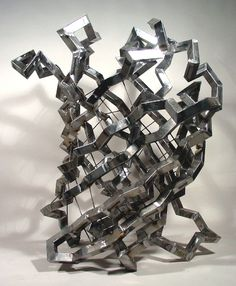Model of a folded protein by Julian Voss-Andreae.