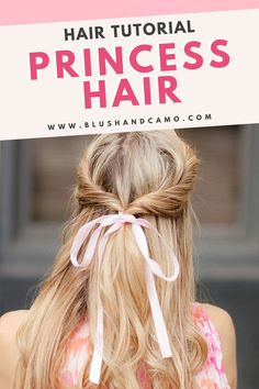 A half-up twisted undo may sound like a hard hairstyle to achieve but with my step by step how to guide, you'll be rocking this gorgeous princess hair in no time! This is definitely the hair tutorial you've been looking for! #easyhairstyles #hairstyles #howto #looklikeaprincess