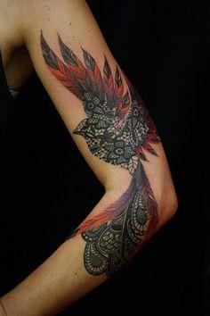 Firebird tattoo: