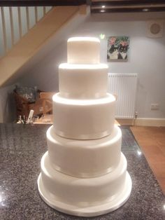 Where do you start icing a 5 tier Wedding Cake? Aroundtheworldin80bakes