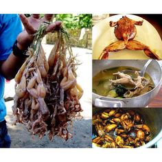 """Frogs or """"tugak"""" in Kapampangan. After dumping them with ash from the wood fire, my grandmother used to strip them of their skin in one fluid motion. In Filipino cuisine, they are cooked fried, adobo, tinola, sinampalukan or binatute (stuffed). And yes, they taste like chicken. :) #filipiknow #pinoy #trivia #culture"""