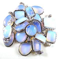 Christmas Sale !! Wholesale Lot 100 PCs Opalite Silver Plated Pendant Jewelry #Gajrajgems92_9 #Pendant