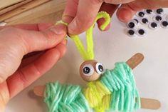 Papillons en laine - Activités enfantines - 10 Doigts