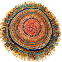 Textile art from Ghana made with recycled batik and wax print cloth and plastic bags http://g-lishfoundation.myshopify.com/products/fibre-art-piece-large-ghana-africa