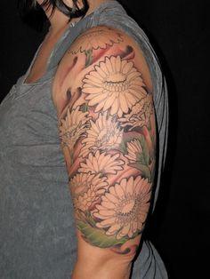 Half Sleeve Flowers Tattoos for Mom