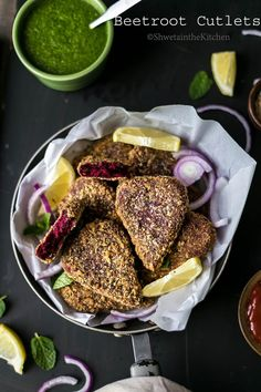 Beetroot (Heart Shaped) Cutlets are crispy,vegan, fried/baked breaded snacks/appetizers