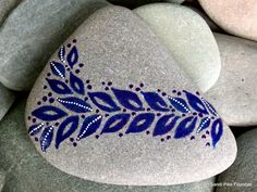 berry branch / painted stones / painted rocks / by LoveFromCapeCod