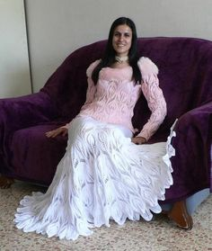 Stylish Pullover & Skirt free crochet graph pattern