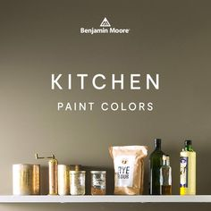 Add the perfect finishing touch to your kitchen with paint color that highlights and brings together the existing features of the space. Benjamin Moore Kitchen, Kitchen Paint Colors, Interior Painting, Find Color, Beautiful Kitchens, Highlights, Design Inspiration, Decorations, Touch