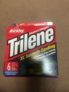 TRILENE  XL  SUPER STRONG  MONO 6 LB TEST  330 YDS CLEAR BLUE #TRILENE