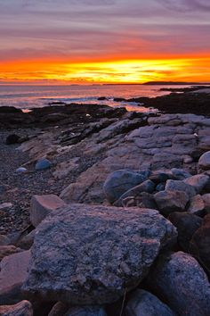 east boothbay maine images | Sunset at Ocean Point, East Boothbay, Maine