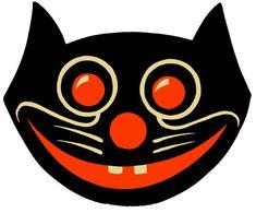 1940 Black Cat Halloween design