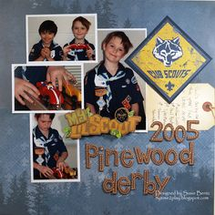 2005 Pinewood Derby **Paper House** - Scrapbook.com