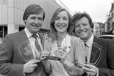 Coronation Street actors William Roache (left), who played Ken Barlow and Johnny Briggs who played Mike Baldwin with Anne Kirkbride. William Roache, Coronation Street Actors, Anne Kirkbride, National Photography, Tv Series, Poster Prints, London
