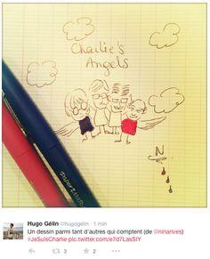 #jesuisCharlie - dessins en hommage - charlie's  angels
