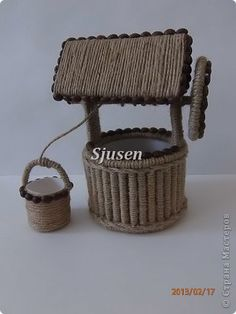 Irina: It's nice when the other nice, but not to the detriment of themselves ! Sisal, Burlap Crafts, Paper Crafts, Corn Dolly, Willow Weaving, Jute Twine, Bottle Crafts, Rubrics, Projects To Try