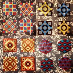 Coaster sets hama beads by highroughdesigns