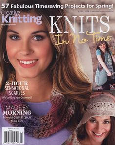 Creative Knitting Magazine Presents: Knits in No Time. Very nice cowl. You can watch video and make it. Love Knitting, Simply Knitting, Knitting Blogs, Knitting Patterns Free, Knitting Yarn, Crochet Patterns, Crochet Book Cover, Crochet Books, Knit Crochet