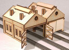 Woodworking Training Engine Shed Twin Pack OO Gauge Laser Cut Kit - Laser Cut Wood, Laser Cutting, Ho Train Sets, Cnc, Laser Cutter Engraver, Outdoor Stage, Build Your Own Shed, Shed Kits, Model Train Layouts