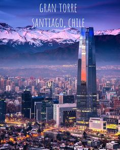 See more ideas about City, City photography and Places. Places To Travel, Travel Destinations, Places To Visit, Cities In South America, Visit Chile, Travel Goals, Travel Inspiration, Beautiful Places, Scenery