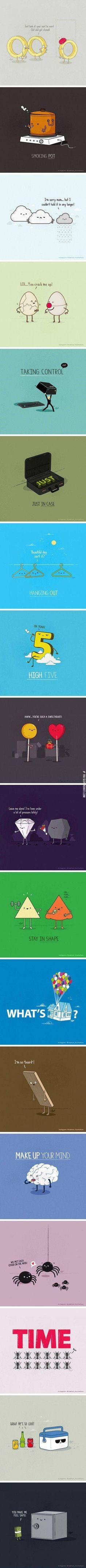 Cartoon puns