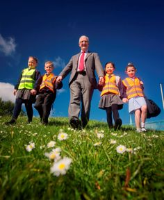 PR photography for our client, Travelwise NI promoting their Walk to School Week initiative. Picture by Brian Morrison.