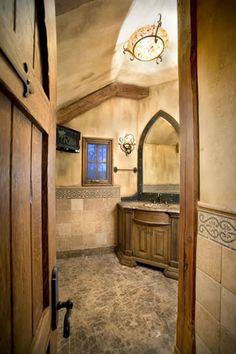 Tuscan bathroom ideas on pinterest tuscan bathroom for Old world bathroom ideas