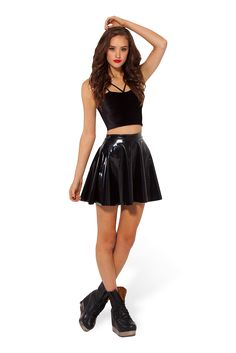 PVC Skater Skirt > Black Milk Clothing $55 USD