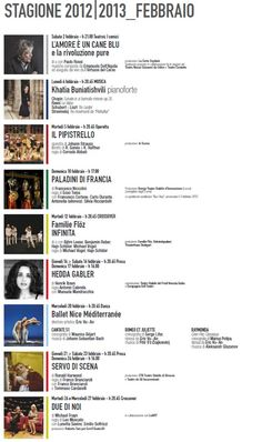 Dal 22 gennaio attive le #prevendite per gli spettacoli di febbraio 2013!#udine #teatro anche online su #vivaticket