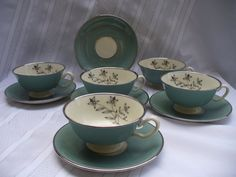 My Mom's good set of china pattern: PRICE REDUCED Lenox Kingsley footed cups and saucers
