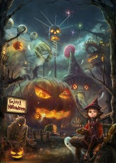A Halloween amusement park? I wish!!!
