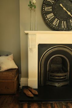 Our family room with Farrow and Ball Hardwick White Click through for Farrow and…