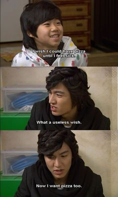 Boys Over Flowers was just too cute! Jun Pyo was such a sweet boyfriend. Surprised Jan Di's brother with a pizza TRUCK!lol (plus its Lee Min Ho people, fangirl faints and nosebleeds etc! F4 Boys Over Flowers, Boys Before Flowers, Geum Jan Di, Korean Drama Funny, Korean Drama Quotes, Sweet Boyfriend, Fangirl, Ji Hoo, Drama Fever