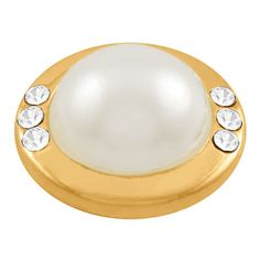 A Gold MarilynPearl Dottie adds sophistication to any Lotti Dotties accessory. You Deserve a Dottie Darling… Lotti Dotties interchangeable magnetic pearl dotties let you quickly and easily change the look of your jewelry. Style LD21-20