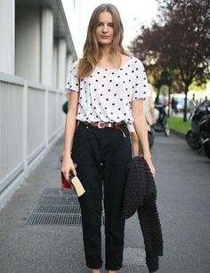 """30 Perfect June Outfits. """"It's the slouchy, too-cool boyfriend-fit pants that make it."""""""