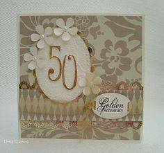 Sarah's Little Snippets: Golden Wedding Anniversary card
