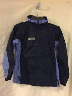 Columbia Kids Hooded Hoodie Packable Rain Coat Windbreaker Jacket Size 10 / 12 #Columbia