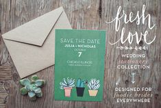 Foodie Wedding Invitations by Yours is the Earth