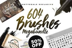 600 Premium Photoshop Brushes from Layerform - only $14!