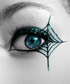 Augen Spinnennetz-Schminktipps Fasching