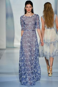Luisa Beccaria Spring 2014 Ready-to-Wear Collection. Luisa Beccaria Spring 2014 Ready-to-Wear Collection. Love Fashion, Runway Fashion, Fashion Show, Fashion Design, Milan Fashion, Luisa Beccaria, Gala Dresses, Dressy Dresses, Pantalon Cigarette