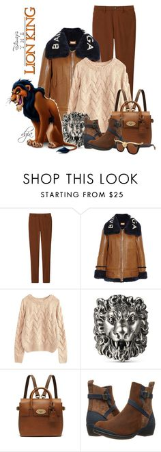 """The Lion King-Scar"" by dgia ❤ liked on Polyvore featuring Uniqlo, Balenciaga, Gucci, Mulberry, Keen Footwear and Anna-Karin Karlsson"