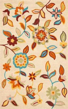 5'x8' Beige Ivory  Blossom Large Flower Rug | Free Shipping! |  Safavieh No. BLM677
