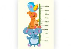 Animal Stack Baby Room, Nursery Decor, Smurfs, African, Chart, Wall Art, Store, Animals, Animales